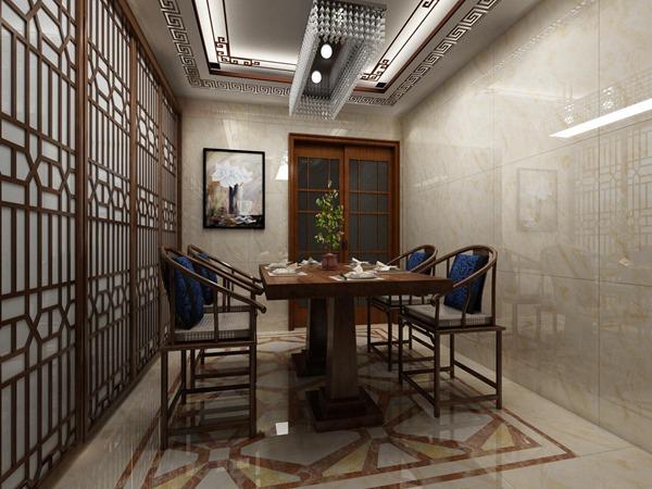 中式餐厅瓷砖