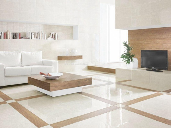 别墅客厅地板瓷砖