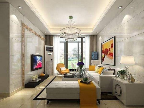 现代客厅瓷砖