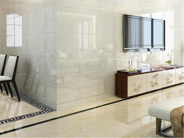 现代简欧客厅墙砖