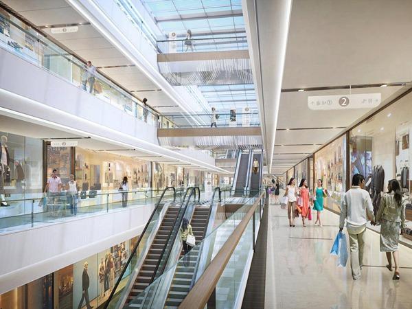 郑州熙地港购物中心瓷砖效果图