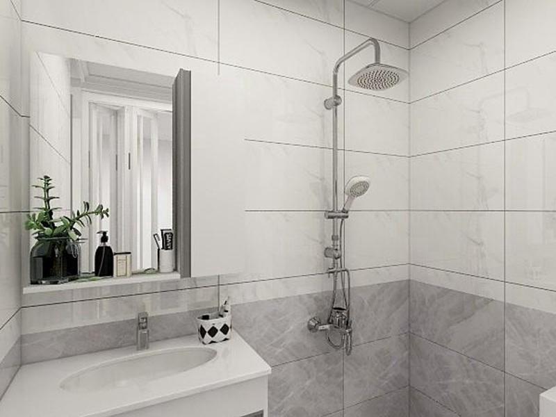 卫生间白灰瓷砖