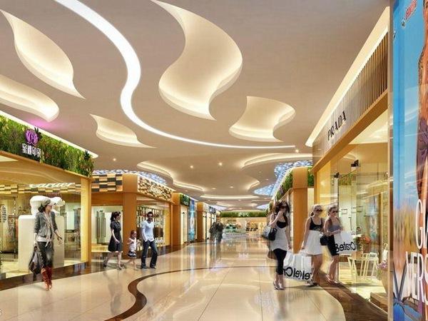 购物中心瓷砖效果图