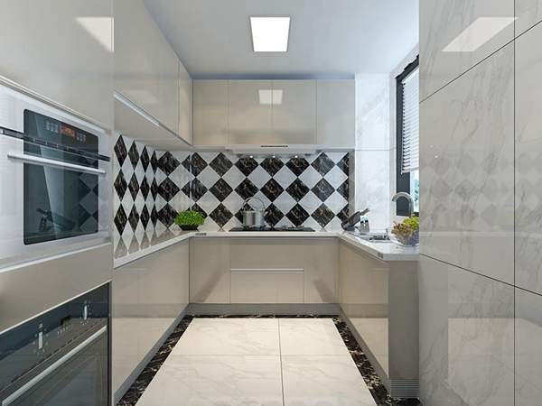 现代厨房瓷砖装修效果图
