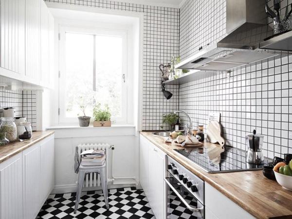 欧式厨房墙砖装修效果图